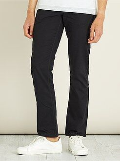 Pantalon regular toucher doux longueur US 32 - Kiabi