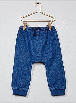 Pantalon sarouel en denim léger - Kiabi