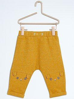 Pantalon sarouel en molleton pailleté