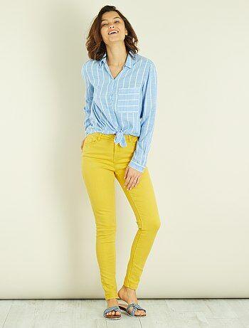 Pantalon skinny 7/8e et taille haute - Kiabi