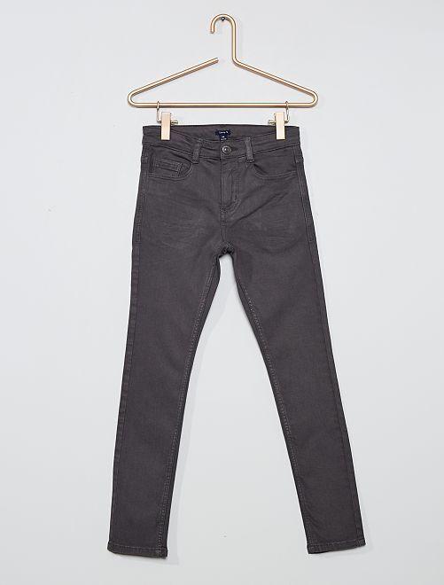 Pantalon skinny cinq poches                                                                                                                             gris foncé