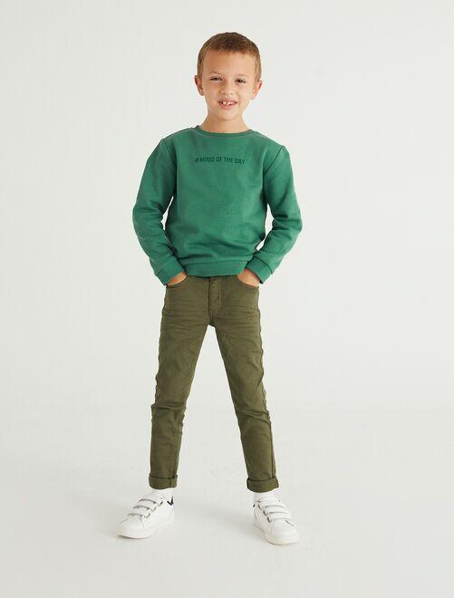 Pantalon skinny cinq poches                                                                                                                             vert foncé