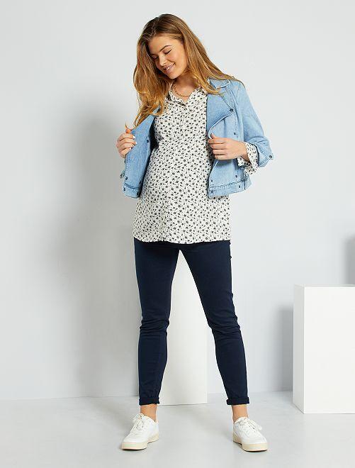 Pantalon skinny de grossesse                                                                 bleu Grossesse