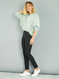 Pantalon habillé - Pantalon skinny en simili mat
