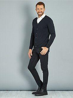 Homme du S au XXL Pantalon skinny en twill de coton stretch