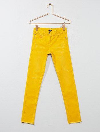 Pantalon skinny finition franges - Kiabi