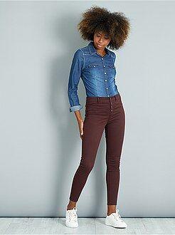 Pantalon - Pantalon skinny toucher doux