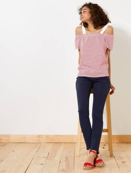 pantalon slim femme bleu marine kiabi 12 00. Black Bedroom Furniture Sets. Home Design Ideas
