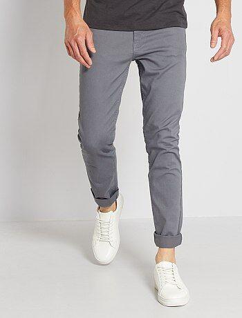 Pantalon slim 5 poches en twill - Kiabi