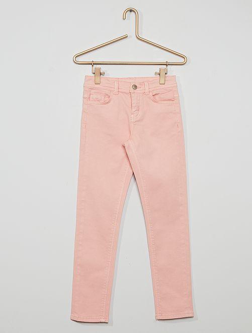 Pantalon slim coloré éco-conçu                                                                                         rose