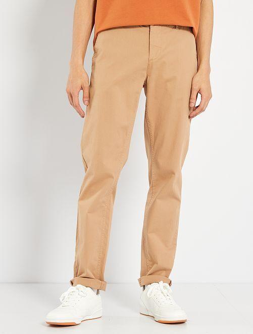 Pantalon slim éco-conçu                                                                                                                                                                                                                                                         beige
