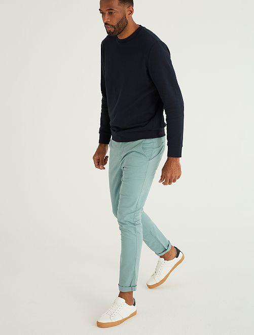 Pantalon slim éco-conçu                                                                                                                                                                                                                                                                 bleu