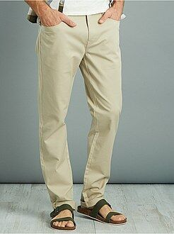 Pantalon slim en piqué de coton stretch - Kiabi