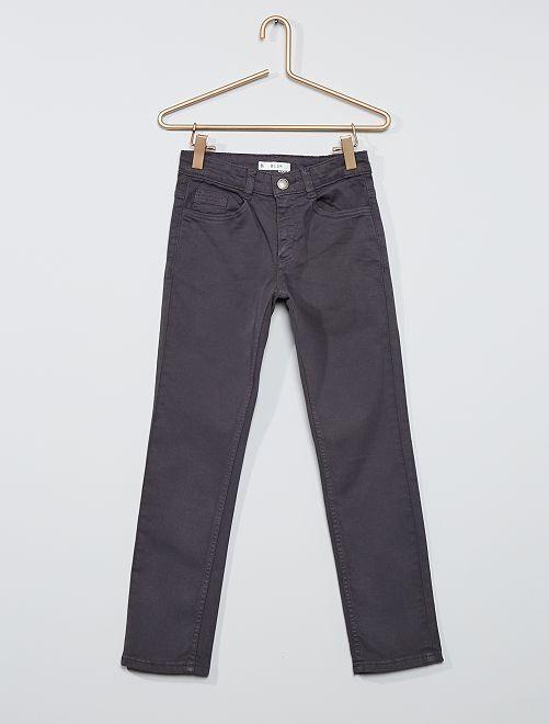 Pantalon slim en twill éco-conçu                                                                                         gris