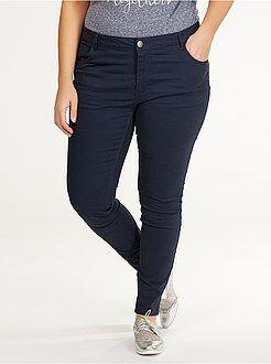 Pantalon - Pantalon slim en twill stretch