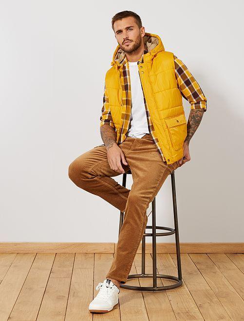 pantalon slim en velours grosses c tes homme beige. Black Bedroom Furniture Sets. Home Design Ideas