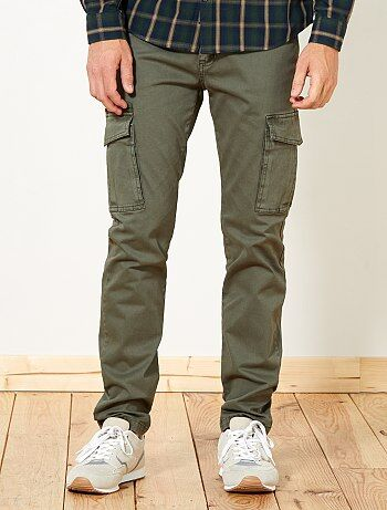 Pantalon slim poches battle - Kiabi