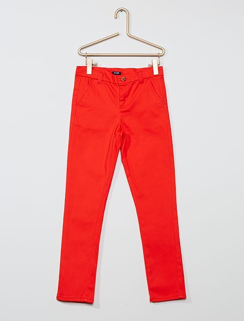 Pantalon slim stretch                                                                 rouge