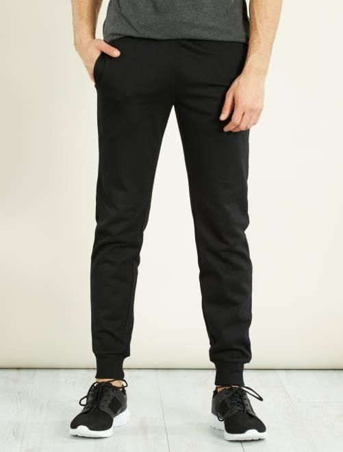 Pantalon sport en molleton                             noir