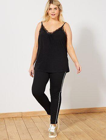 Pantalon stretch avec fines bandes côté - Kiabi