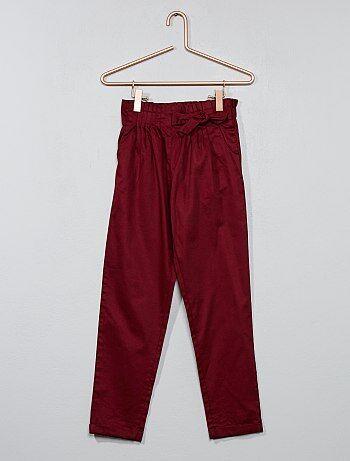 Pantalon taille plissée - Kiabi