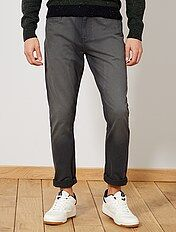 Pantalon tapered slim 5 poches