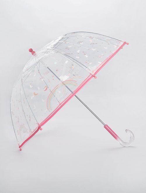 Parapluie transparent 'New York'                                                         rose