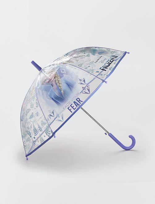 Parapluie transparent 'Reine des neiges' 'Disney'                             violet