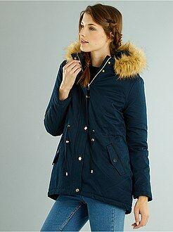 Manteau, veste - Parka à capuche fourrure amovible