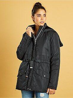 Manteau, veste - Parka déperlante à capuche zippée