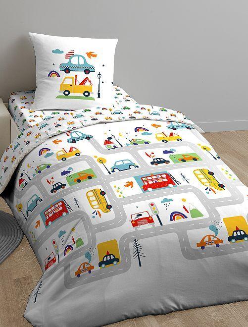parure de lit 1 personne linge de lit blanc kiabi 25 00. Black Bedroom Furniture Sets. Home Design Ideas