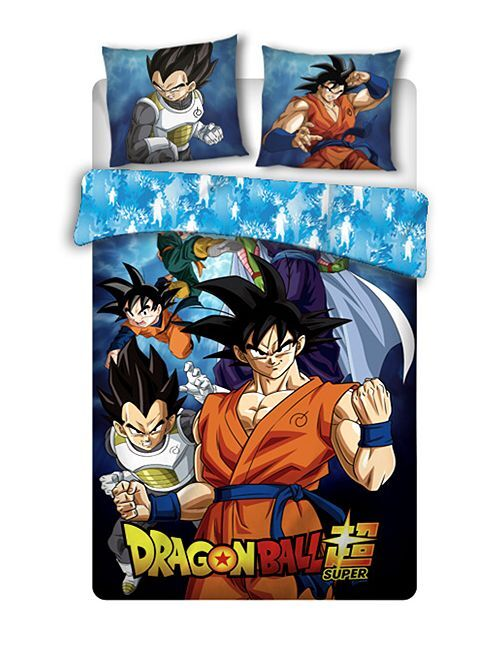 Parure de lit 1 personne 'Dragon Ball'                             bleu