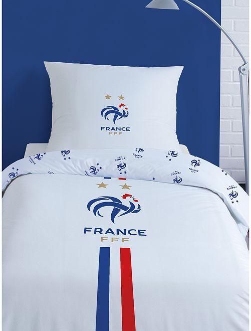 Parure de lit 1 personne 'FFF'                             blanc