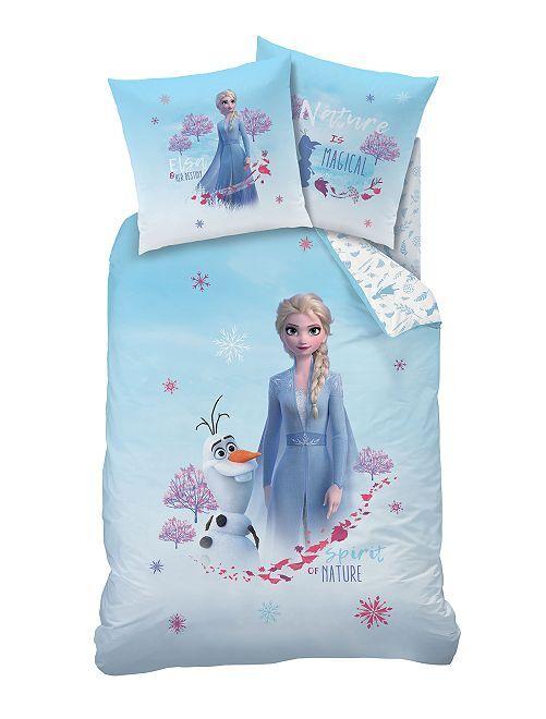 Parure de lit 1 personne 'La Reine des Neiges 2'                             bleu