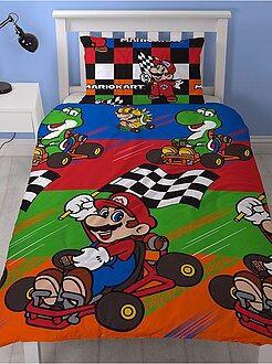 Parure de lit 1 personne 'Mario Kart'
