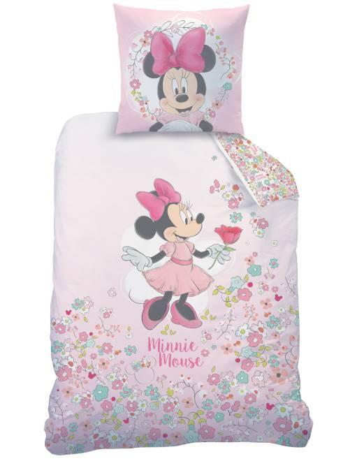 parure de lit 1 personne 39 minnie 39 linge de lit rose kiabi 35 00. Black Bedroom Furniture Sets. Home Design Ideas