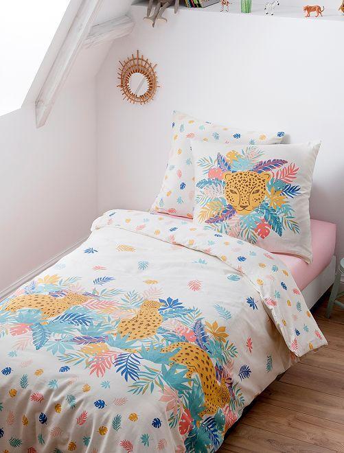 Parure de lit 1 personne                             multicolore