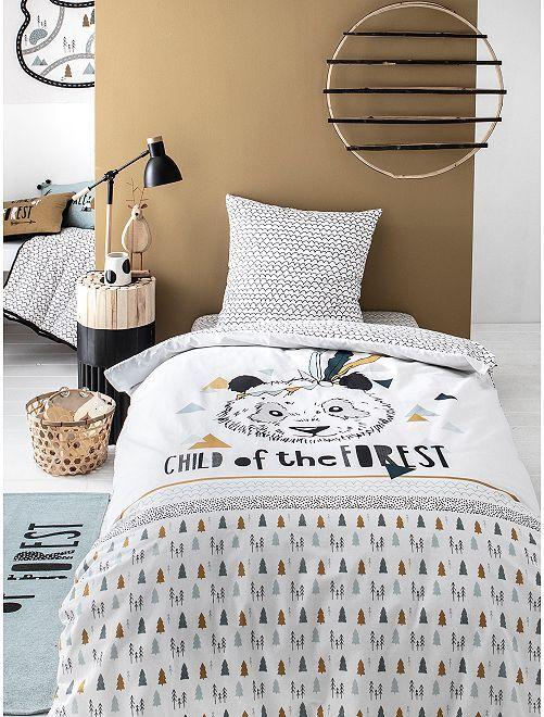 Parure de lit 1 personne 'Panda'                             beige