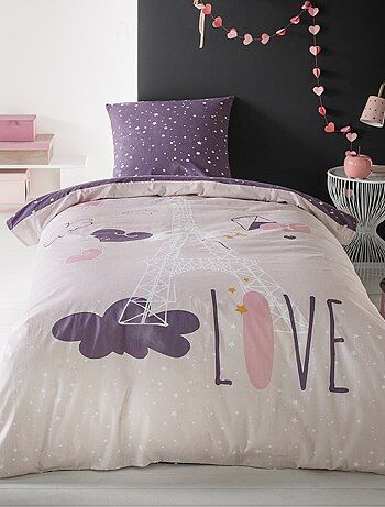 linge de lit enfant linge de lit rose kiabi. Black Bedroom Furniture Sets. Home Design Ideas