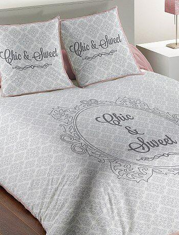 Parure de lit 2 personnes aux motifs baroques - Kiabi