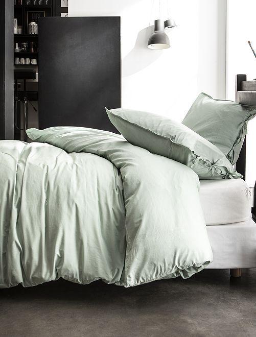Parure de lit 2 personnes                             bleu celadon