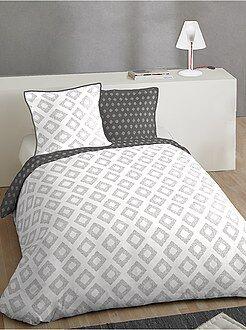 Parure de lit - Parure de lit 2 personnes en coton - Kiabi