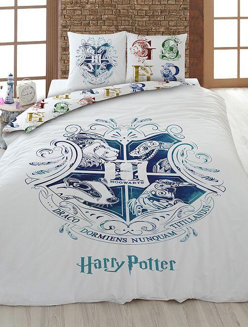 Parure de lit 2 personnes 'Harry Potter'                             blanc