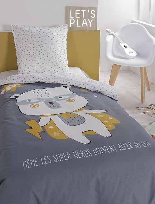 Parure de lit                             bleu