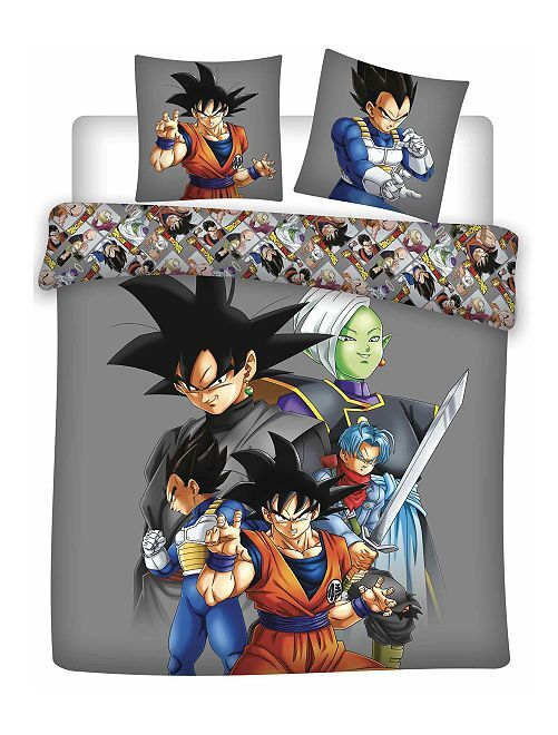 Parure de lit 'Dragon Ball Super' 2 personnes                             gris