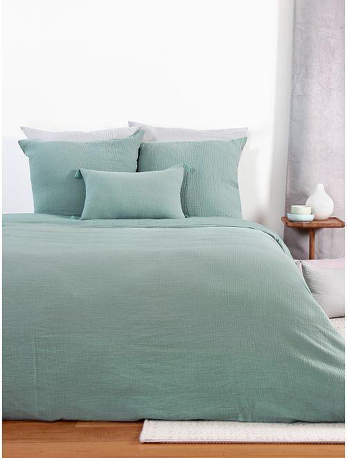 Parure de lit en gaze de coton                                                                                         vert