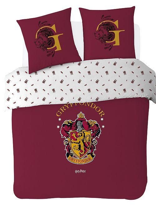 Parure de lit 'Harry Potter' 2 personnes                             bordeaux
