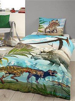 Linge de lit enfant - Parure de lit imprimée 'Dinosaures'