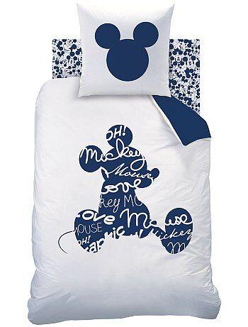 Parure de lit 'Mickey' réversible pour 1 personne - Kiabi