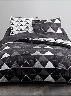 parures de lit pas ch res mode maison kiabi. Black Bedroom Furniture Sets. Home Design Ideas
